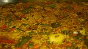 Paella de verduras y calamares (4)